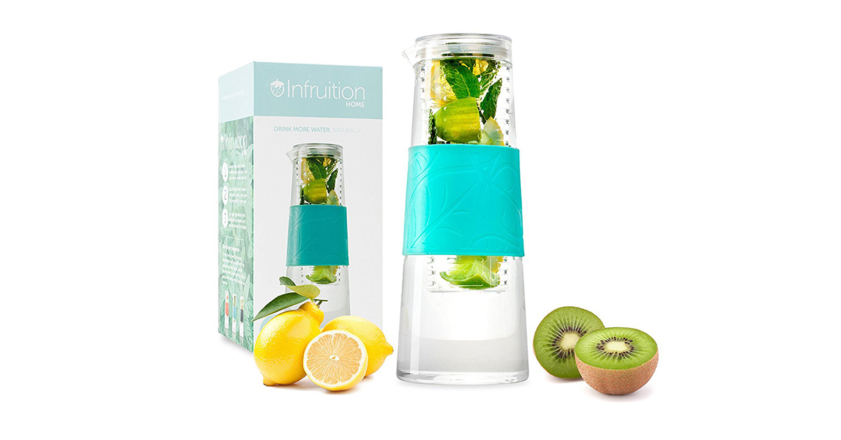 Infruition TM, caraffa in vetro da 1 L per infusi di frutta