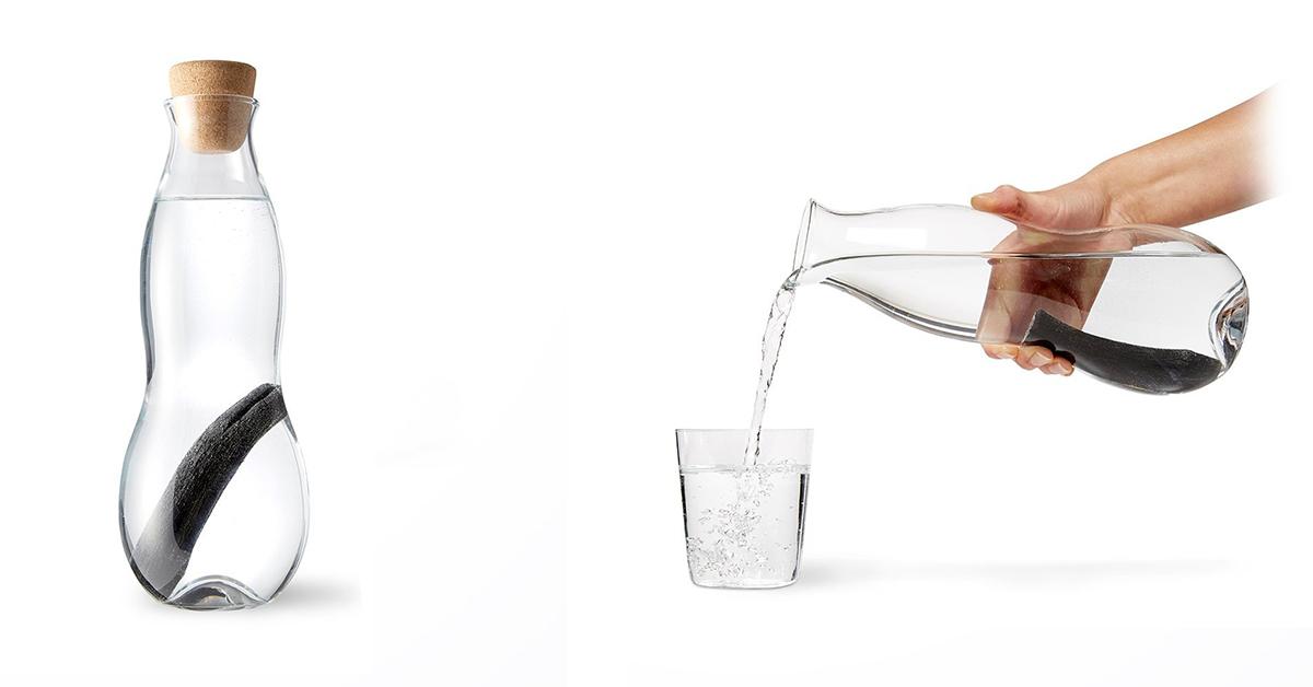 Caraffa filtrante in vetro elegante